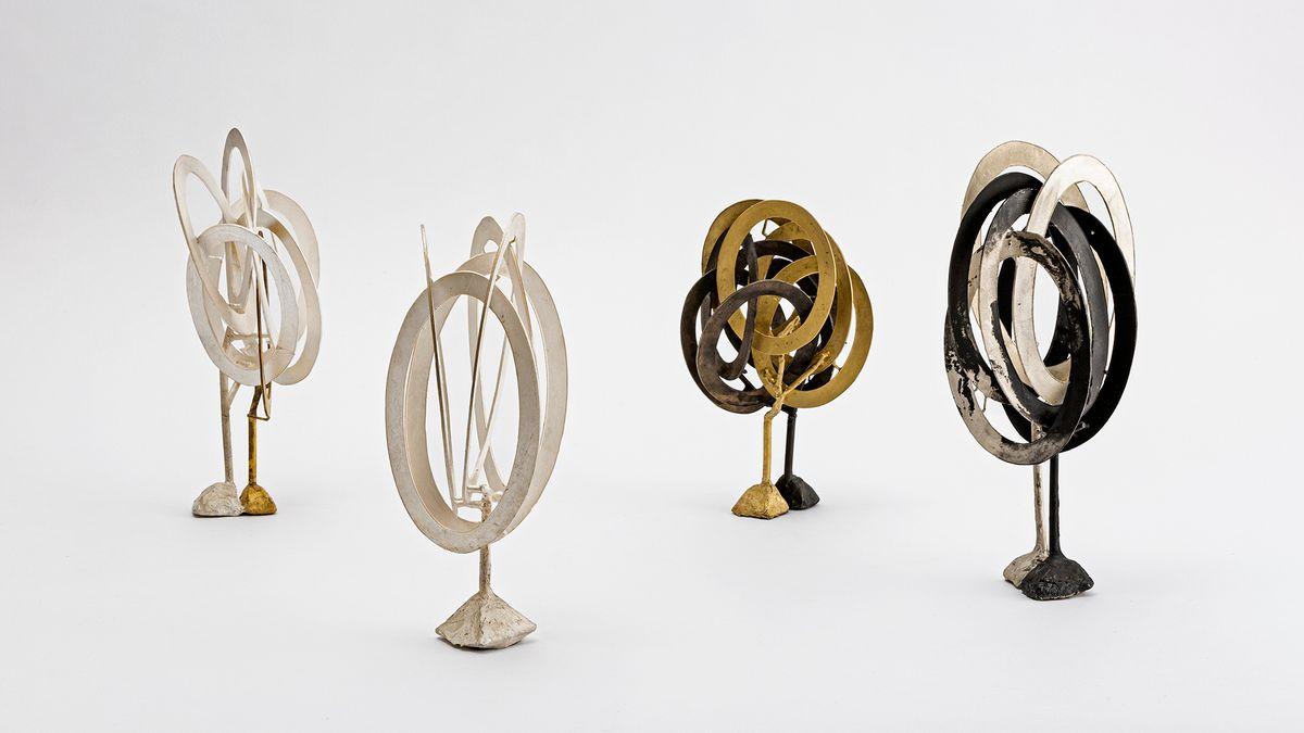 Vier Skulpturen aus Silber und Tumbaga