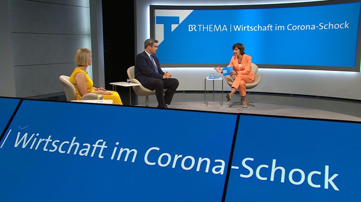 """BR-Sondersendung: """"Wirtschaft im Corona-Schock"""""""