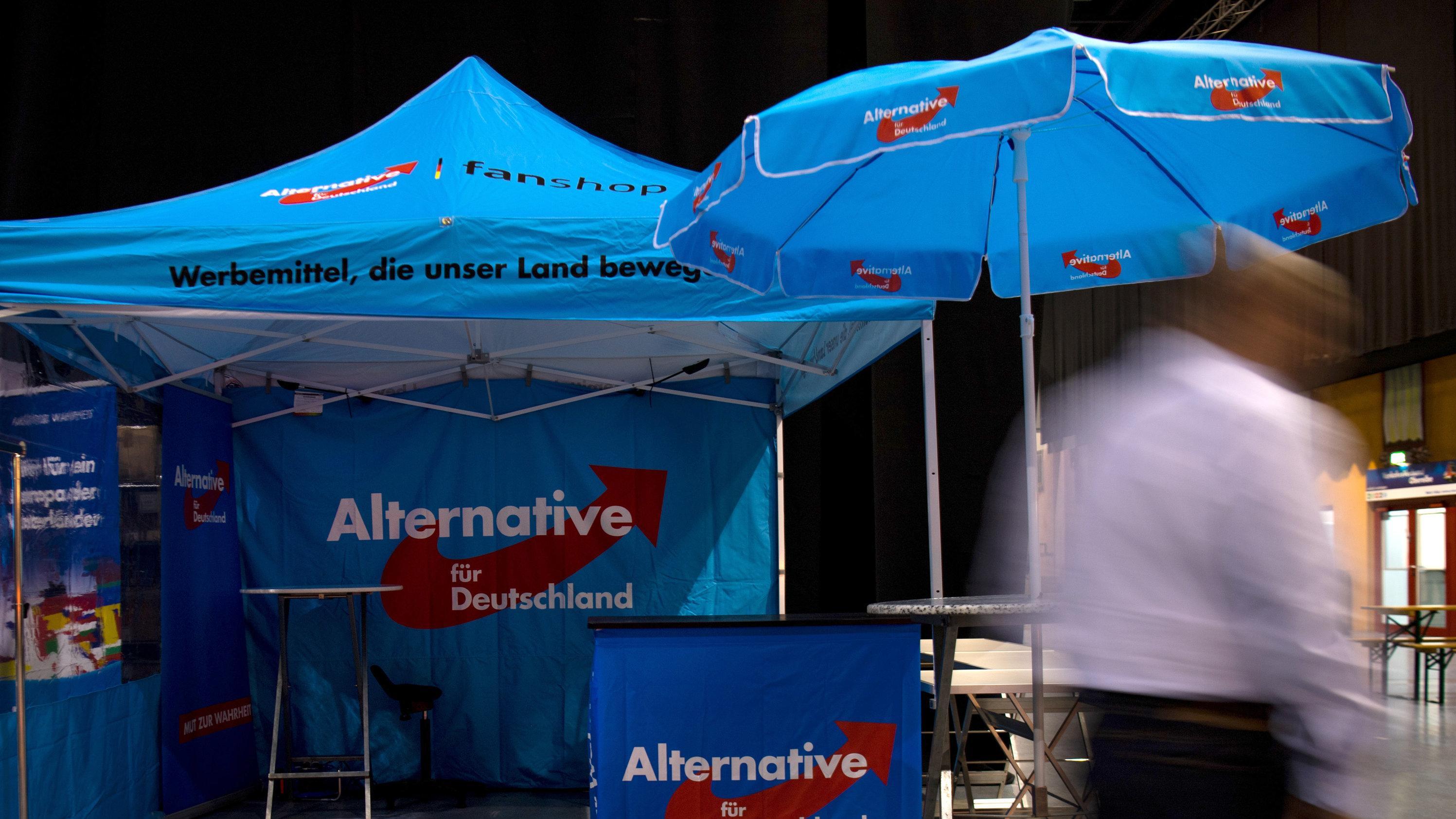 Ein AfD-Stand