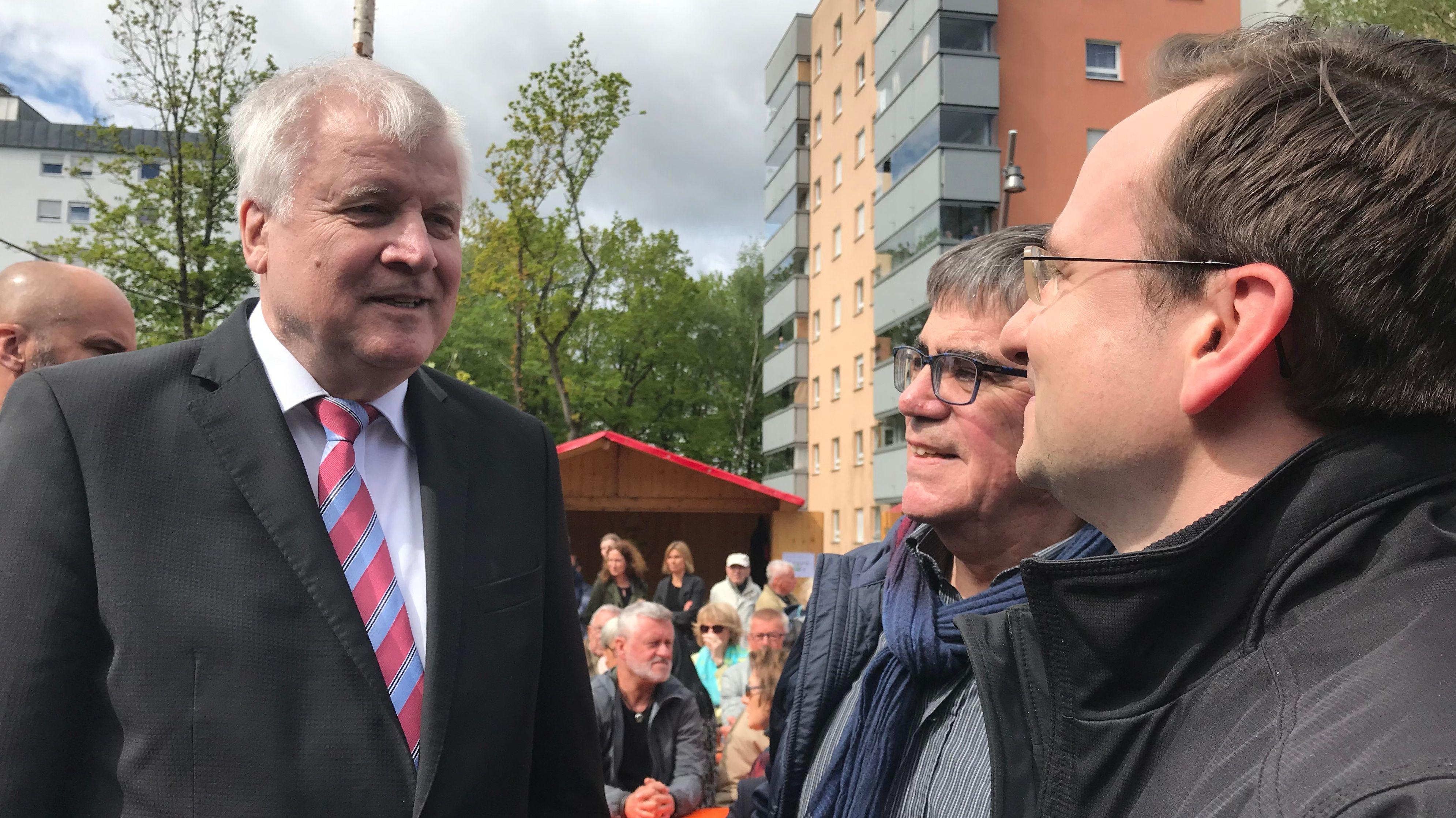 Seehofer verspricht Joachim Fackler (CSU) Tipps zur Kommunalpolitik