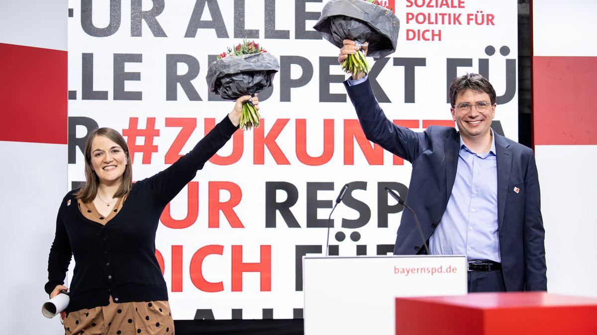 Die neue Doppelspitze der Bayern-SPD: Ronja Endres und Florian von Brunn.