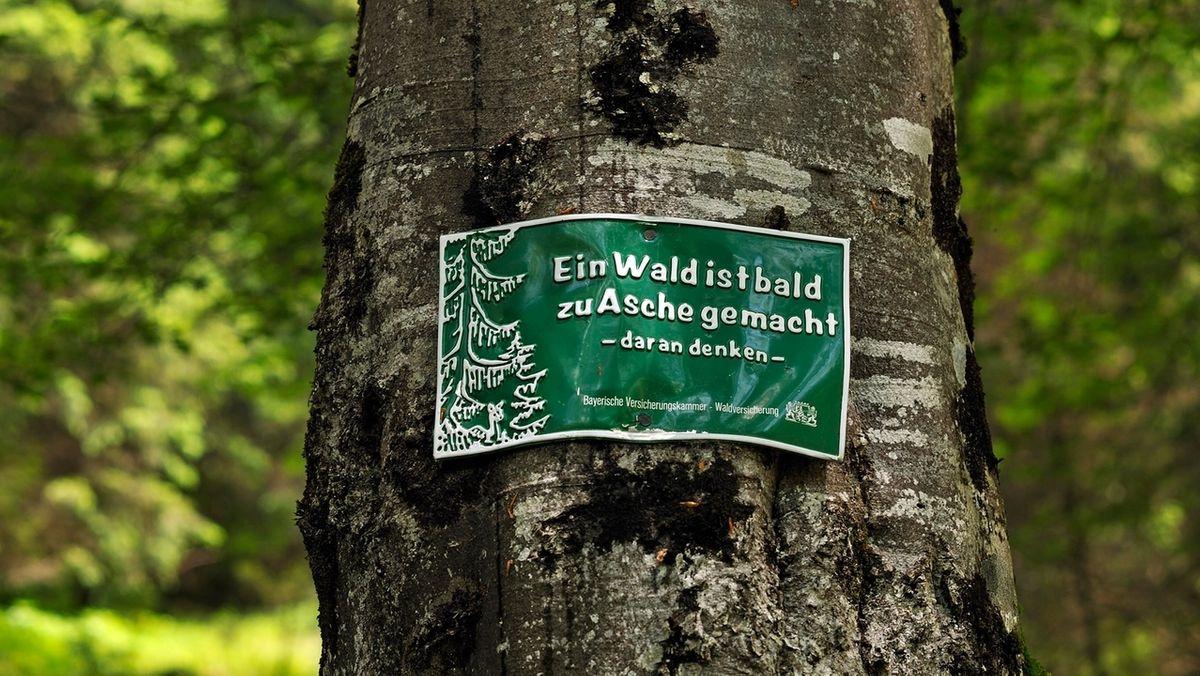 Warnhinweis: Waldbrandgefahr in Bayern