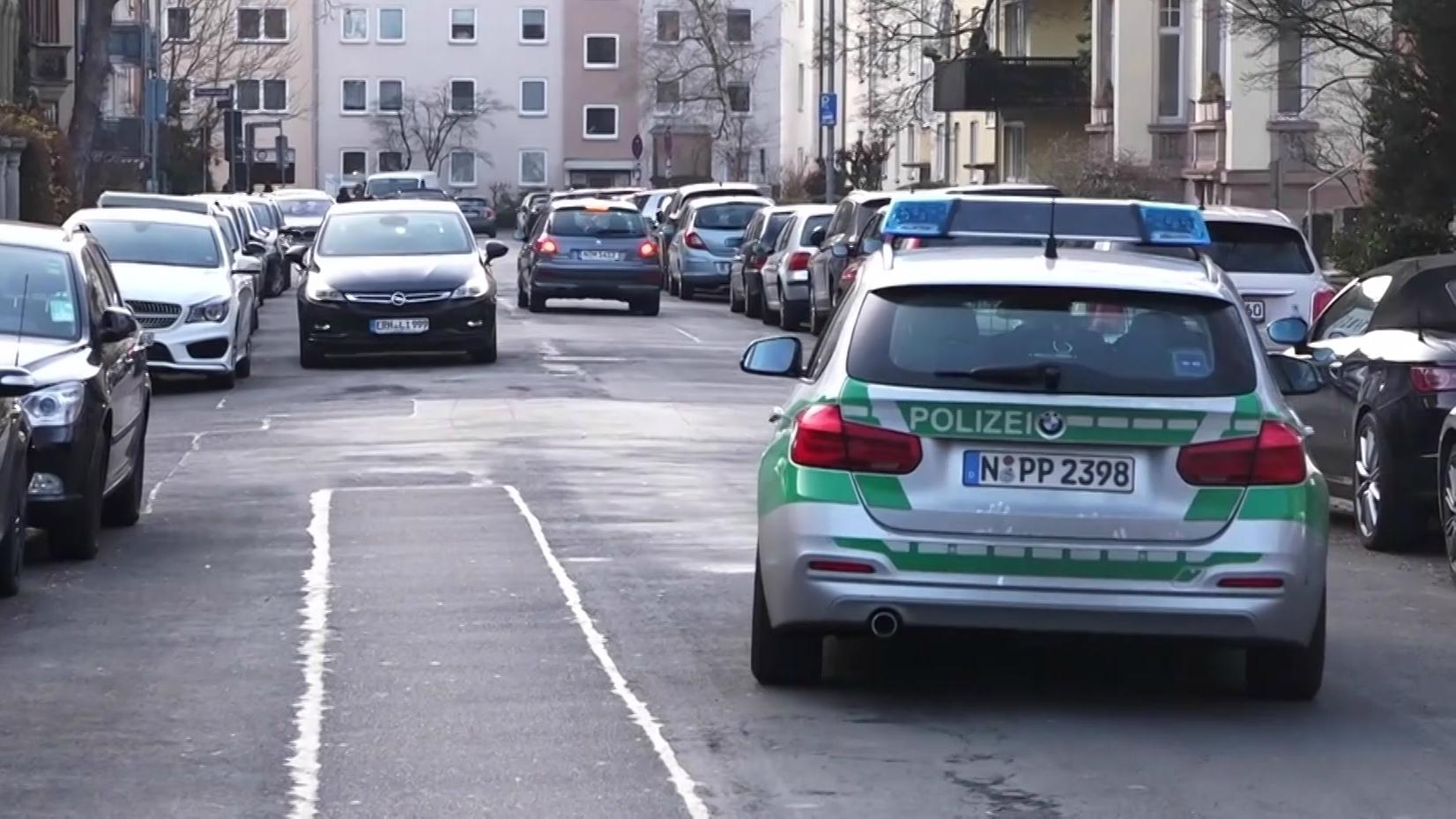 Polizeiwagen in St. Johannis