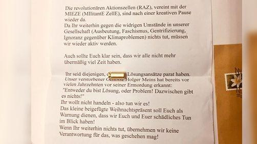 Drohbrief an SPD-Bundestagsabgeordneten aus Fürth
