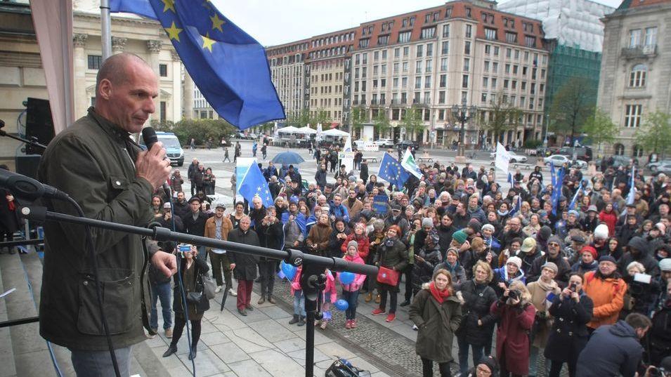 Yanis Varoufakis auf einer Veranstaltung zur Europawahl