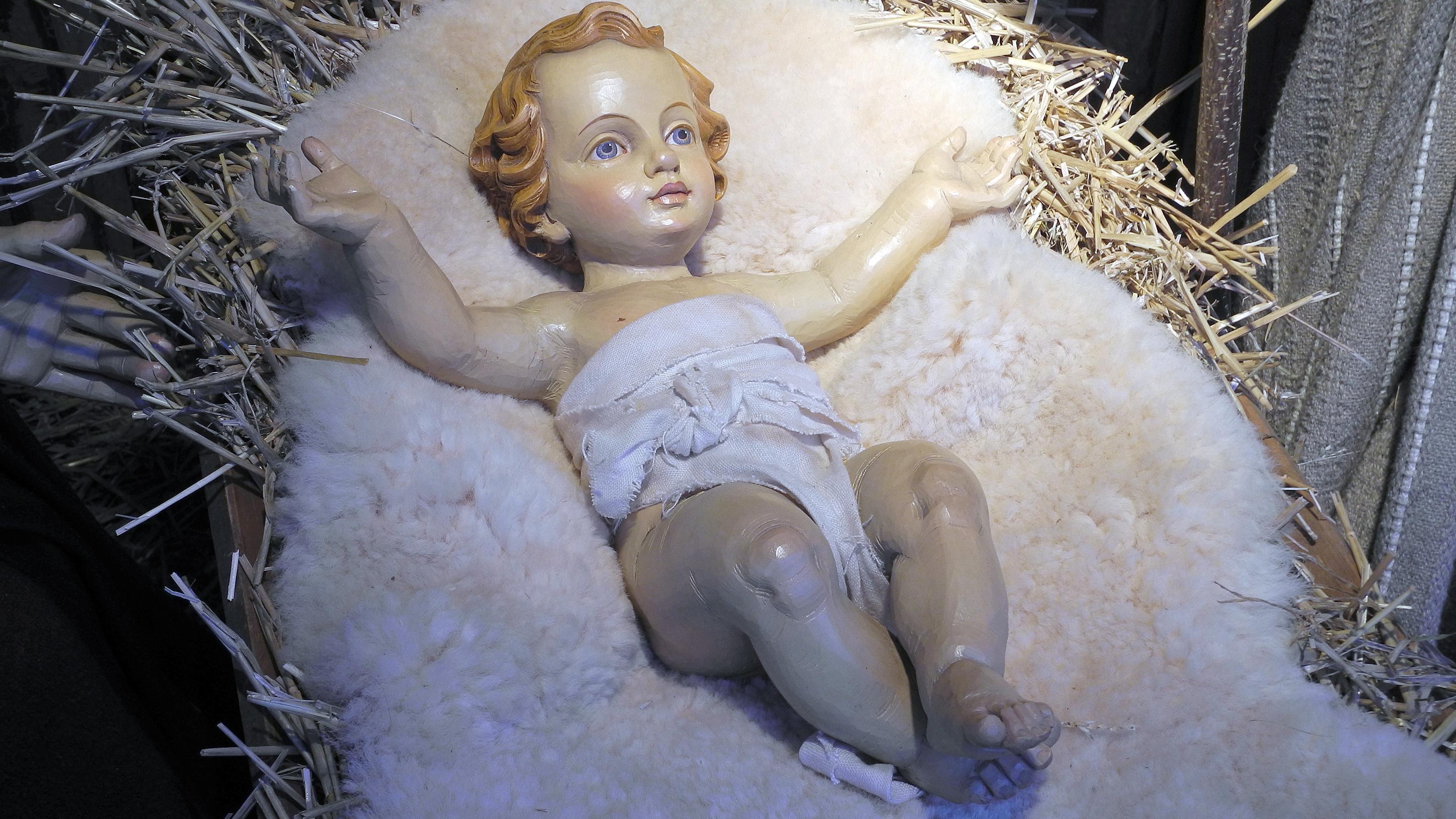 Christkind aus einer Weihnachtskrippe (Symbolbild)