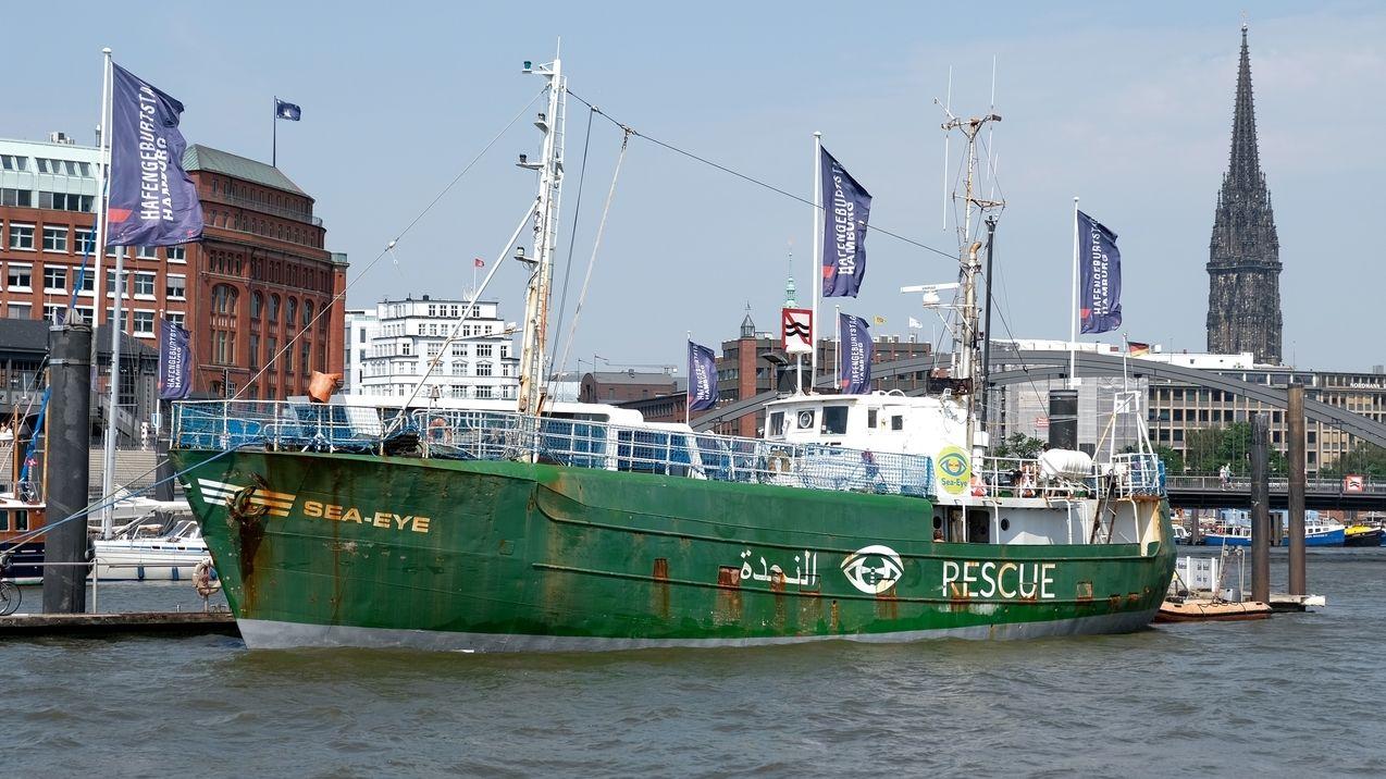 Das Rettungsschiff ´Sea-Eye` der Regensburger Hilfsorganisation kommt in Hamburg ins Museum