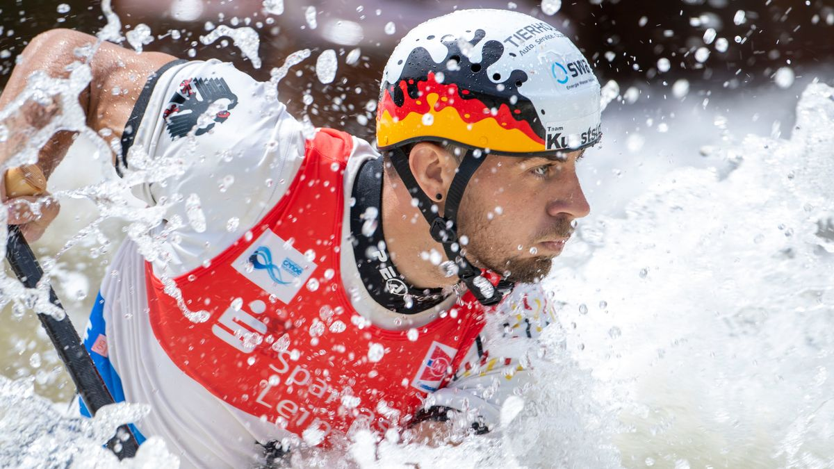 Sideris Tasiadis beim Weltcup in Markkleeberg