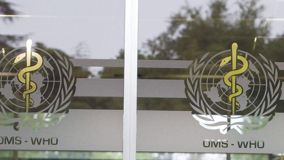 Der Eingang zum WHO-Gebäude in Genf.  | Bild:Picture Alliance/dpa/epa Keystone Di Nolfi