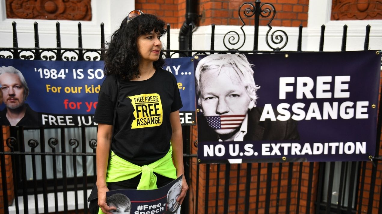 Protest gegen schwedischen Haftbefehl gegen Assange