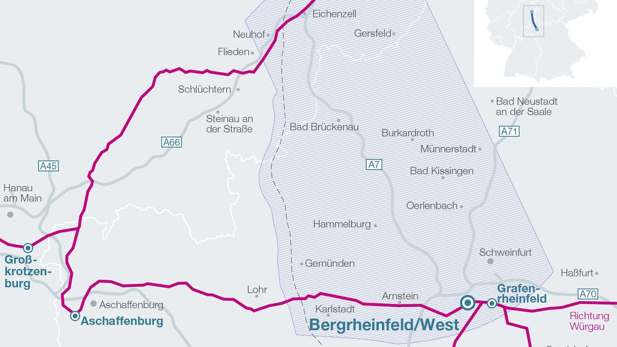 Karte Fulda-Main-Leitung