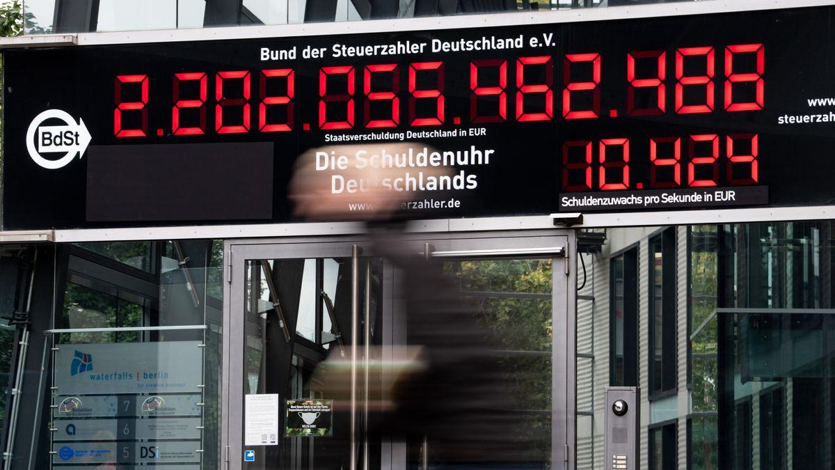 Schuldenuhr Deutschlands zum Stand Oktober