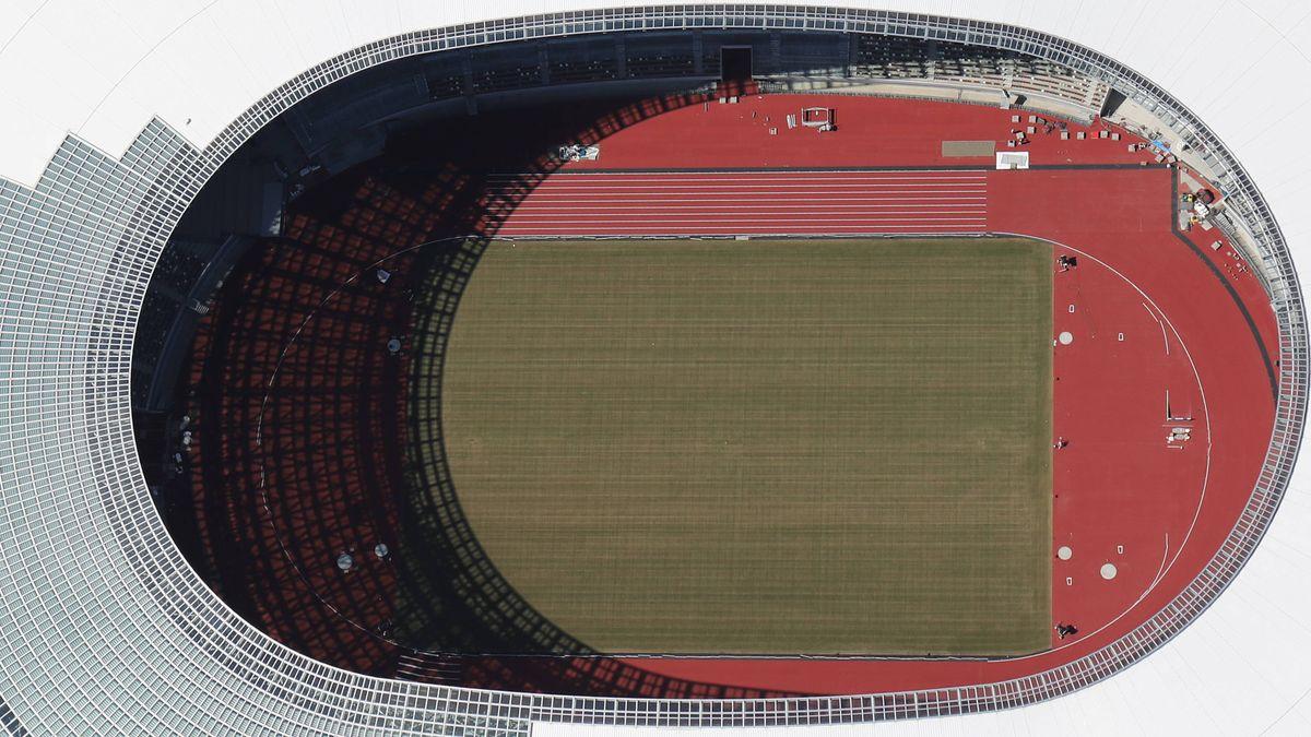 Stadion in Tokio (Luftbild)