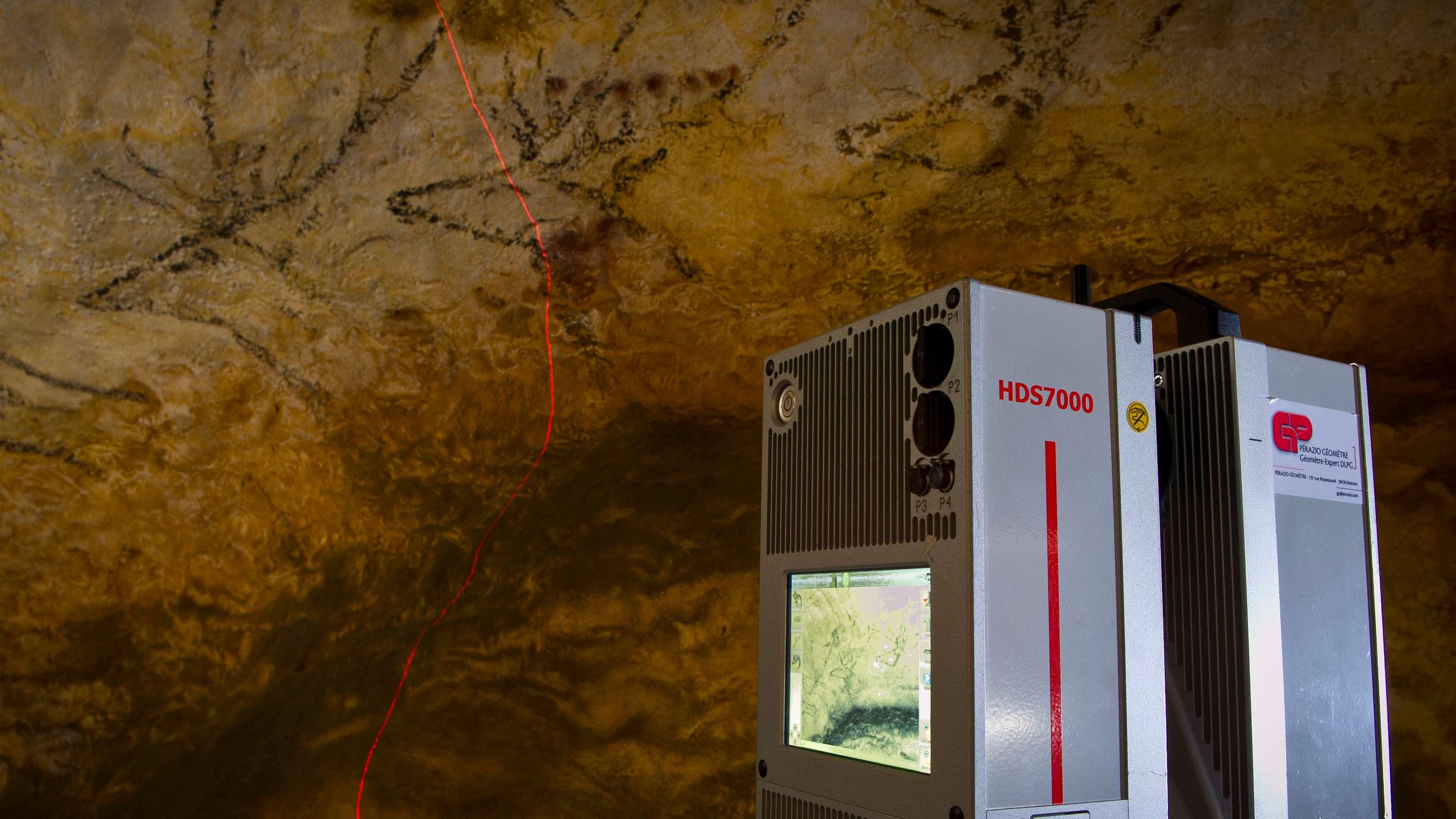 3D-Laser-Scan der Gemälde der Höhle von Lascaux.