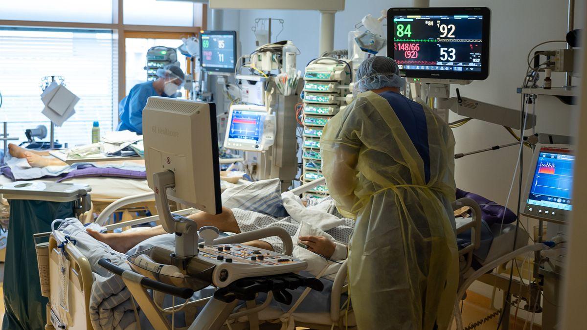Corona-Patienten auf einer Intensivstation in Ludwigsburg