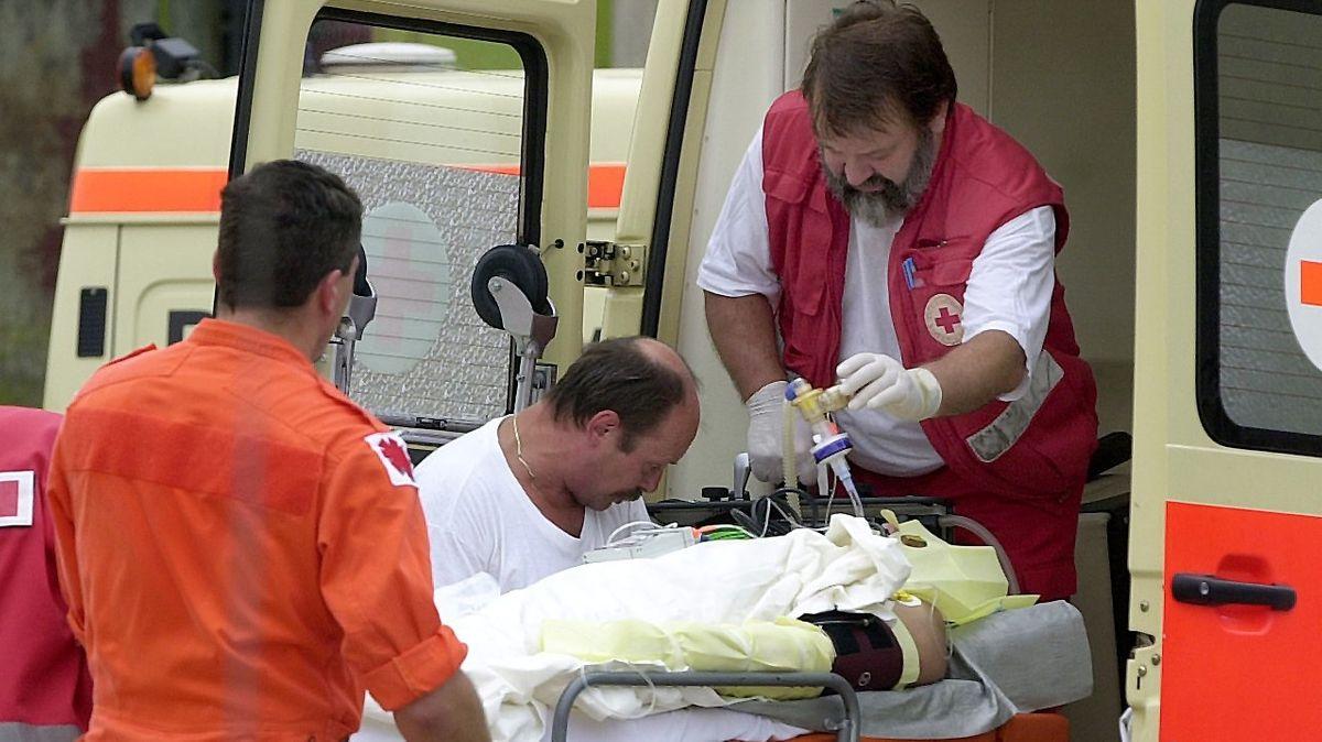 Rettungssanitäter im Einsatz