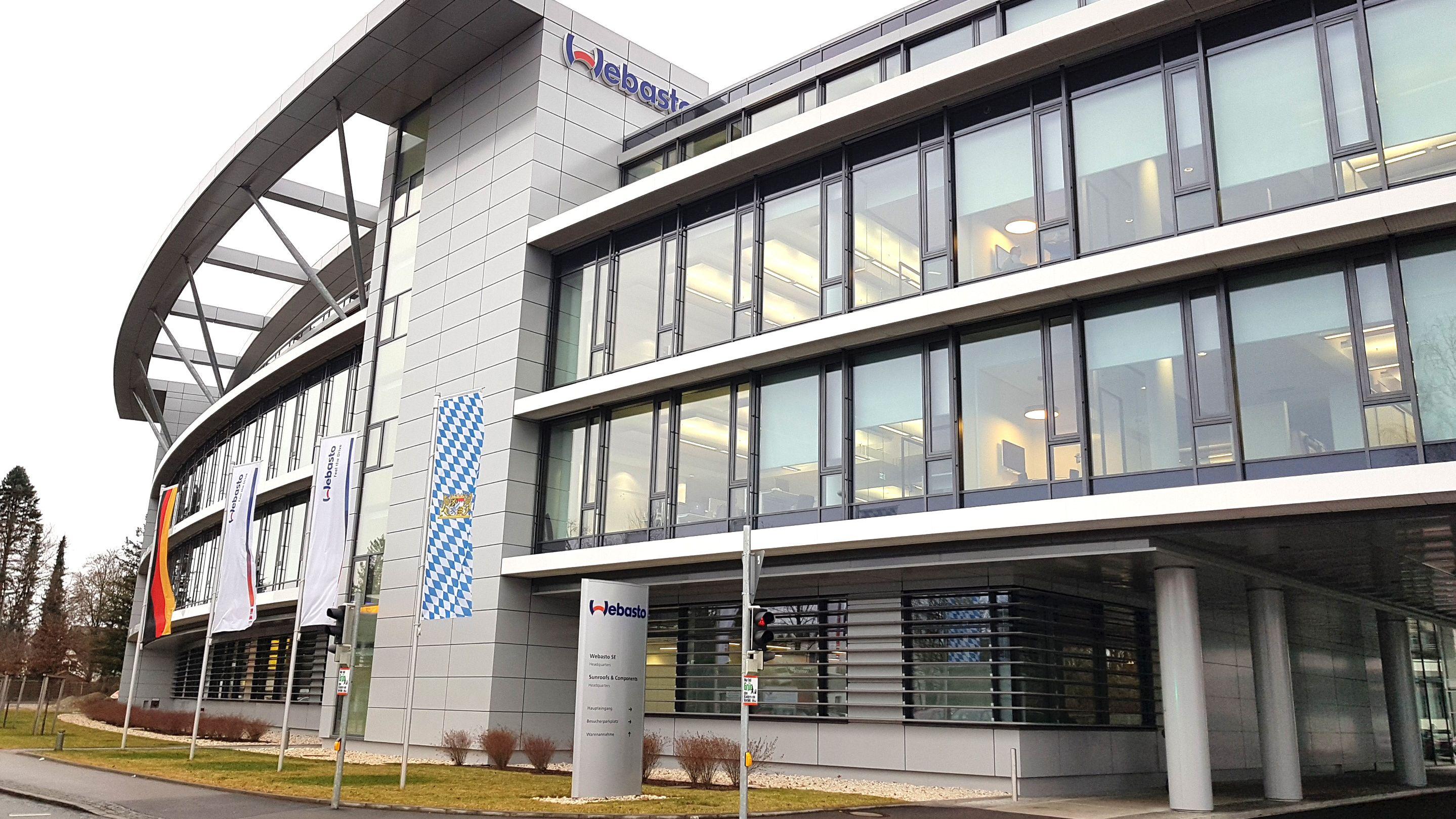 Die Firmenzentrale des Autozulieferers Webasto in Stockdorf.