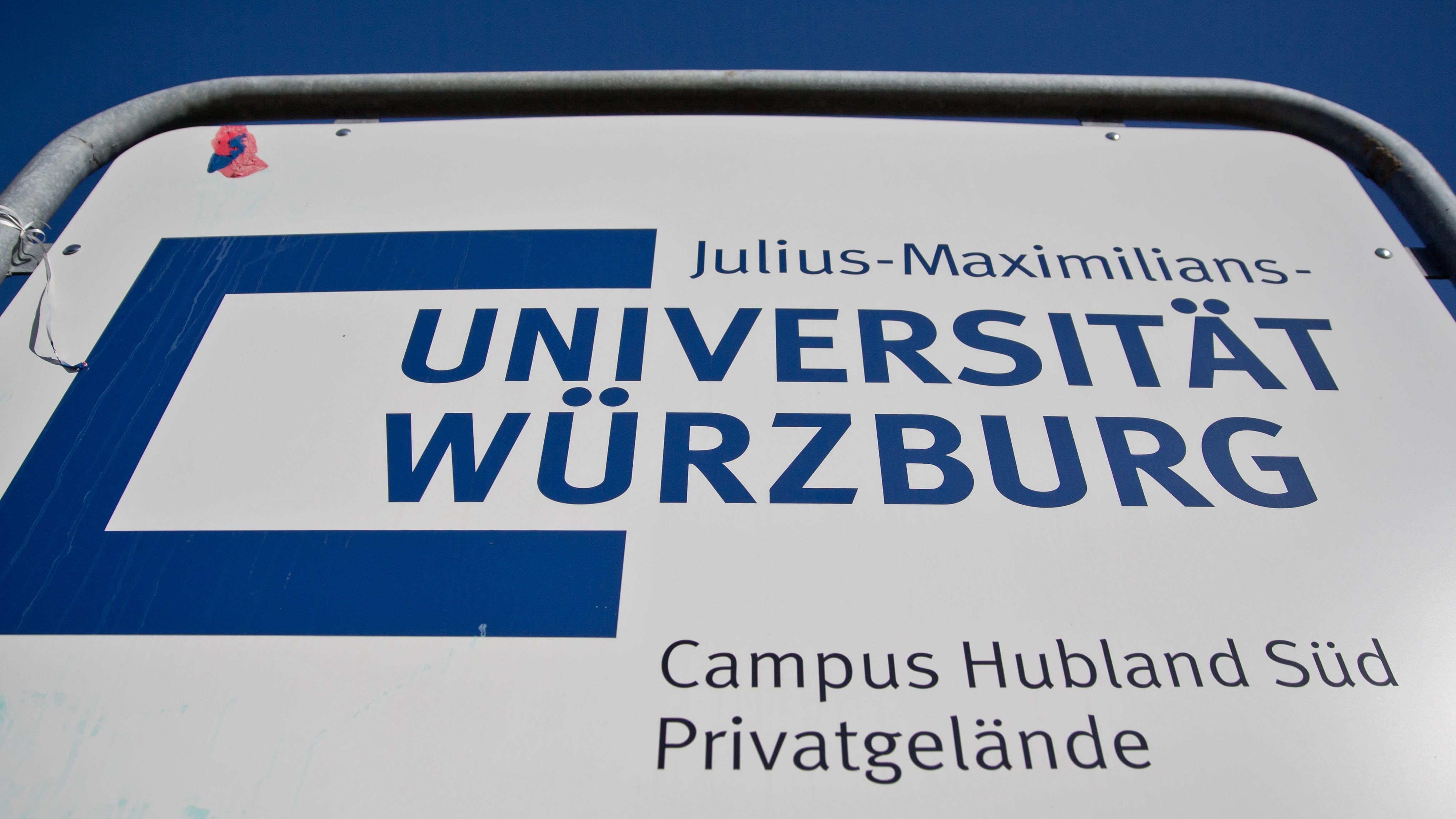 "Schild ""Julius-Maximilians-Universität Würzburg"""