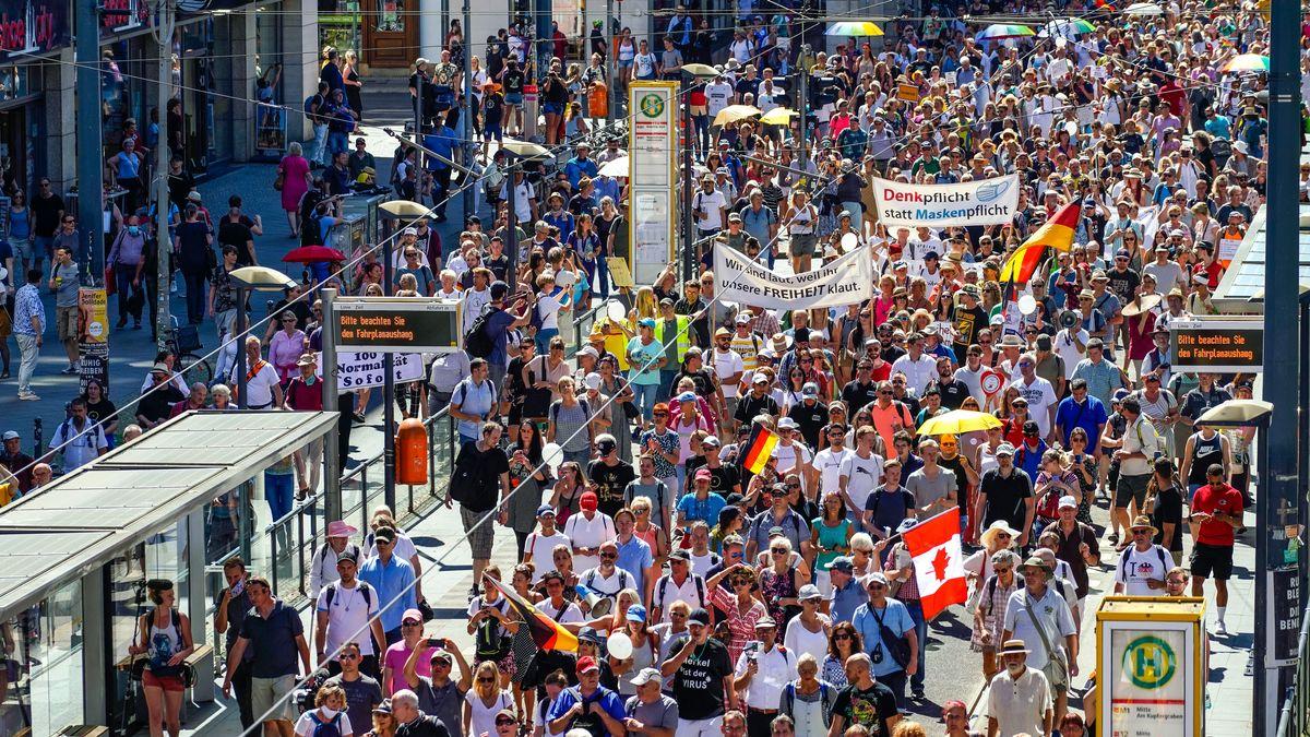 Eine Corona-Großdemonstration in Berlin