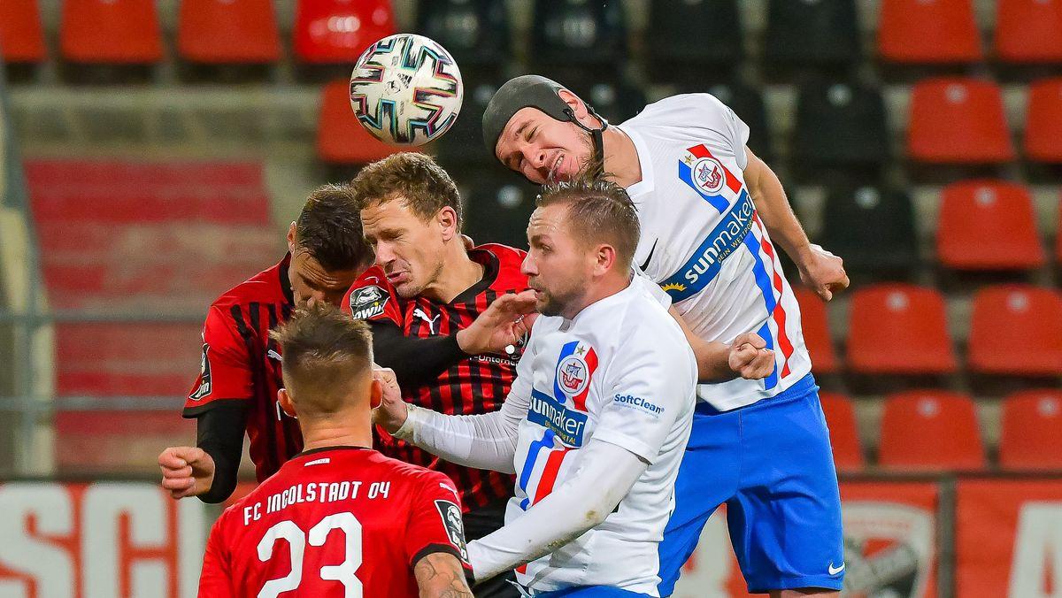 Spielszene Ingolstadt-Rostock aus der Hinrunde
