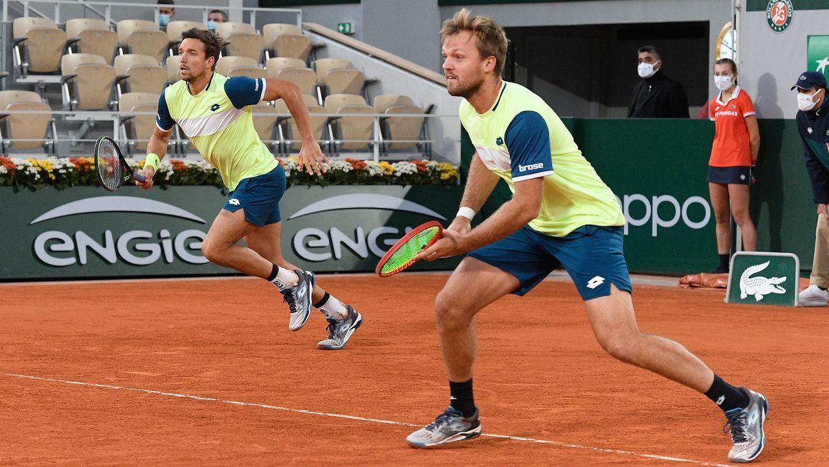 Der Coburger Kevin Krawietz und sein Kölner Doppelpartner Andreas Mies beim Tennisspiel.
