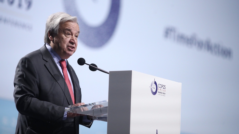 UN-Generalsekretär Gutteres bei der Eröffnung der Klimakonferenz in Madrid