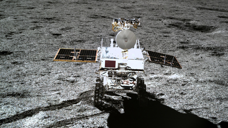 Mond-Rover Yutu 2, aufgenommen von der Mondsonde Chang'e 4