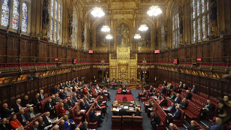 Großbritannien, London: Gesamtansicht des britischen Oberhauses, dem House of Lords.