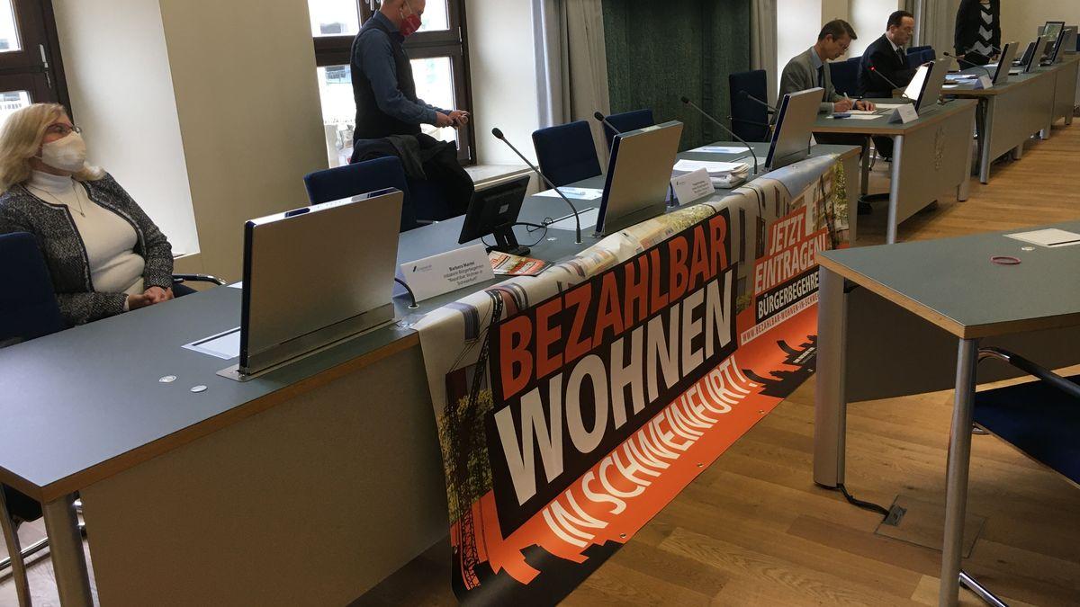 Pressekonferenz zu den 500 Sozialwohnungen in Schweinfurt.