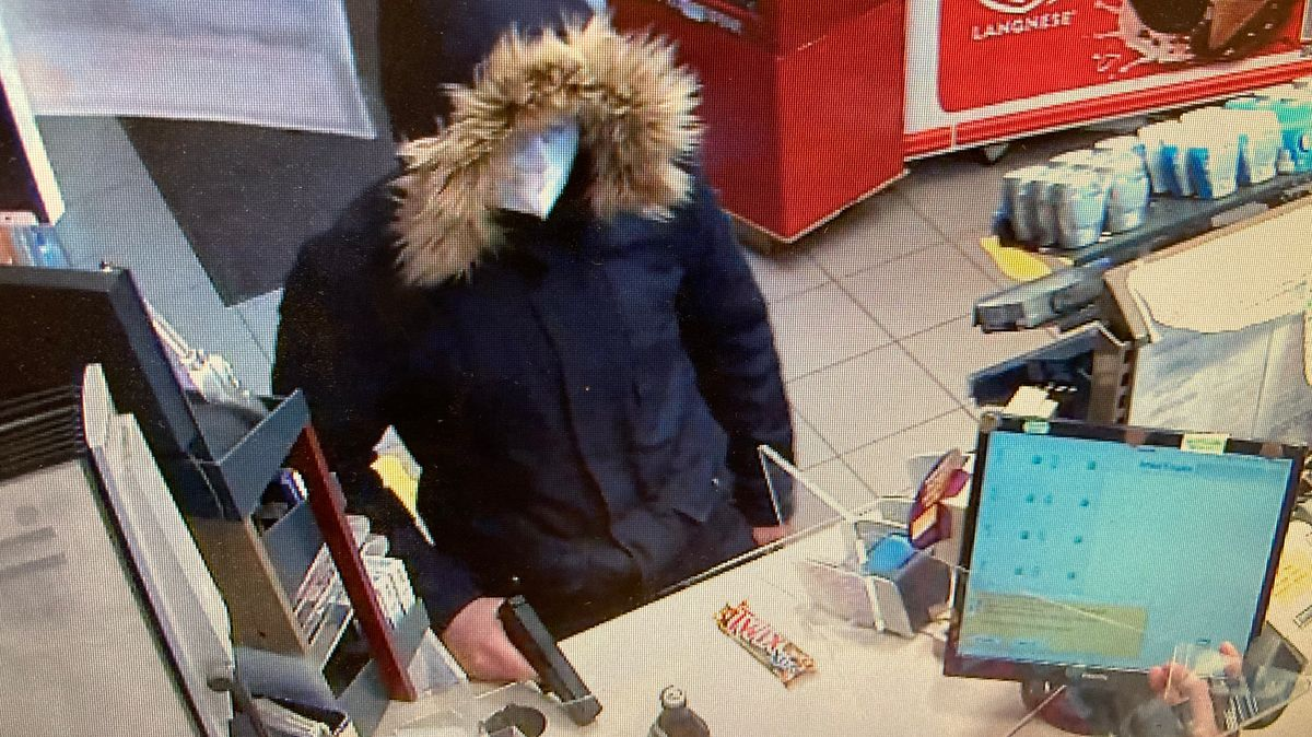 Bild vom Überfall von der Überwachungskamera