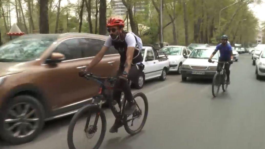 Radverkehr in Teheran