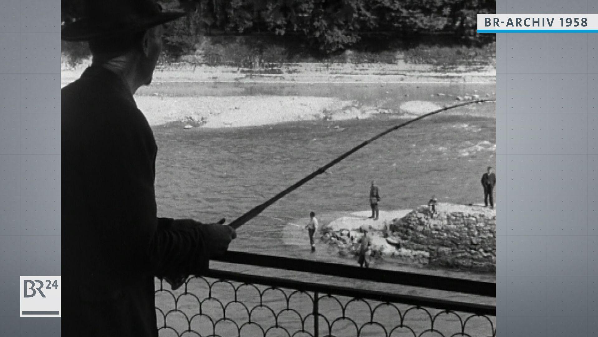 Fischer an der Isar