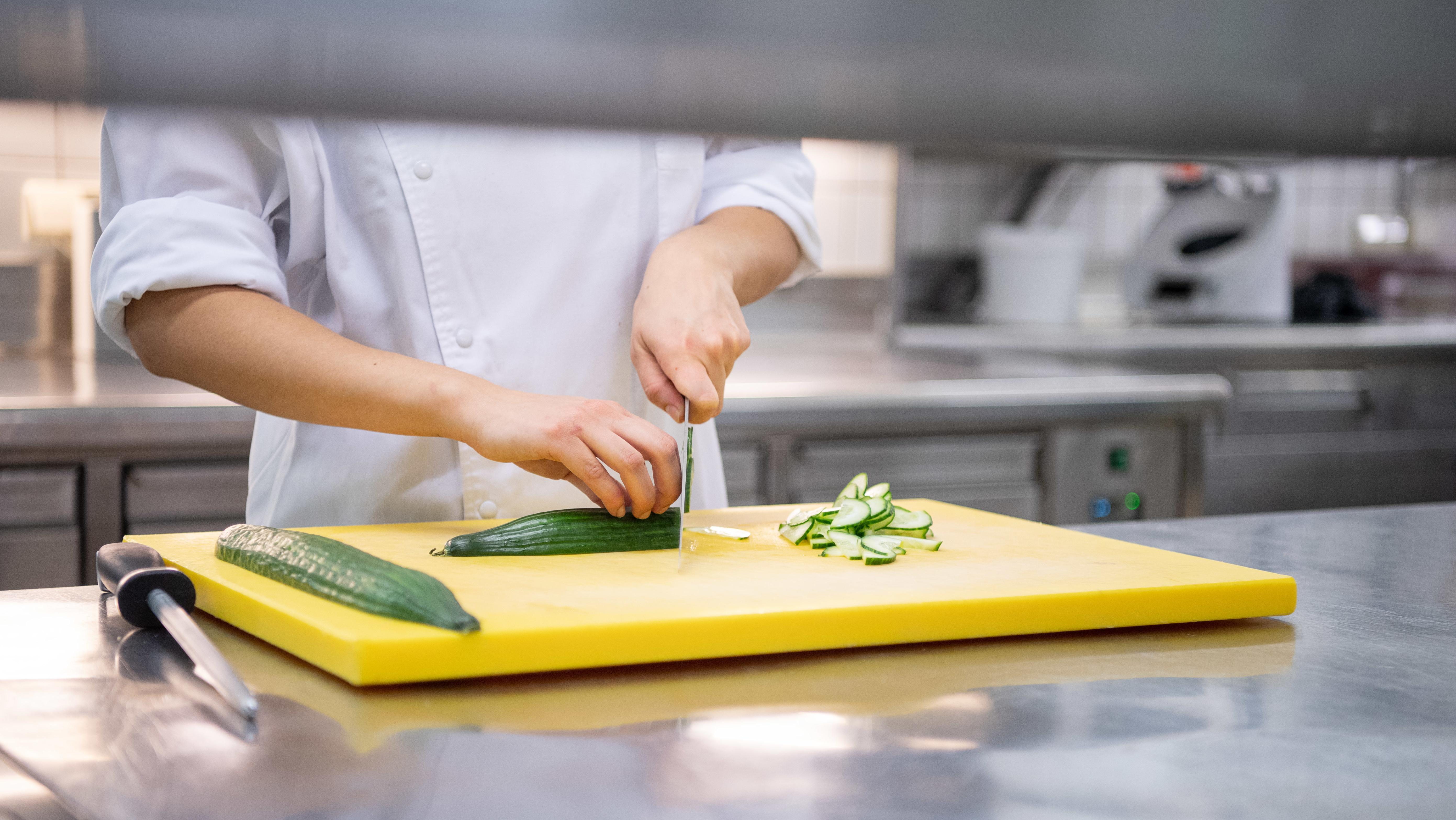 Arbeit in der Restaurantküche