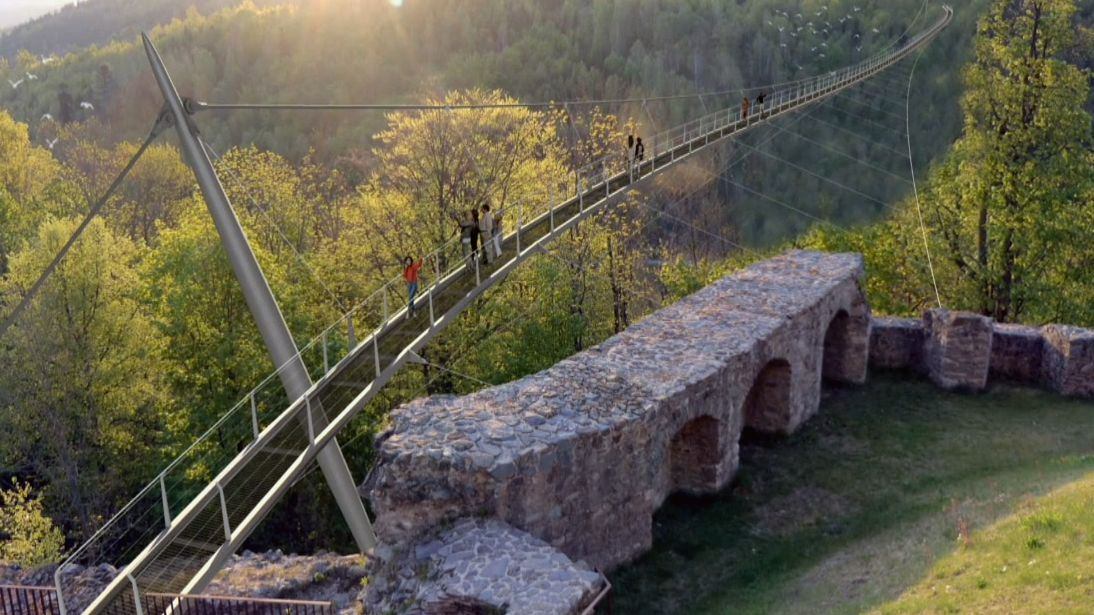 Computergrafik Höllental-Brücke