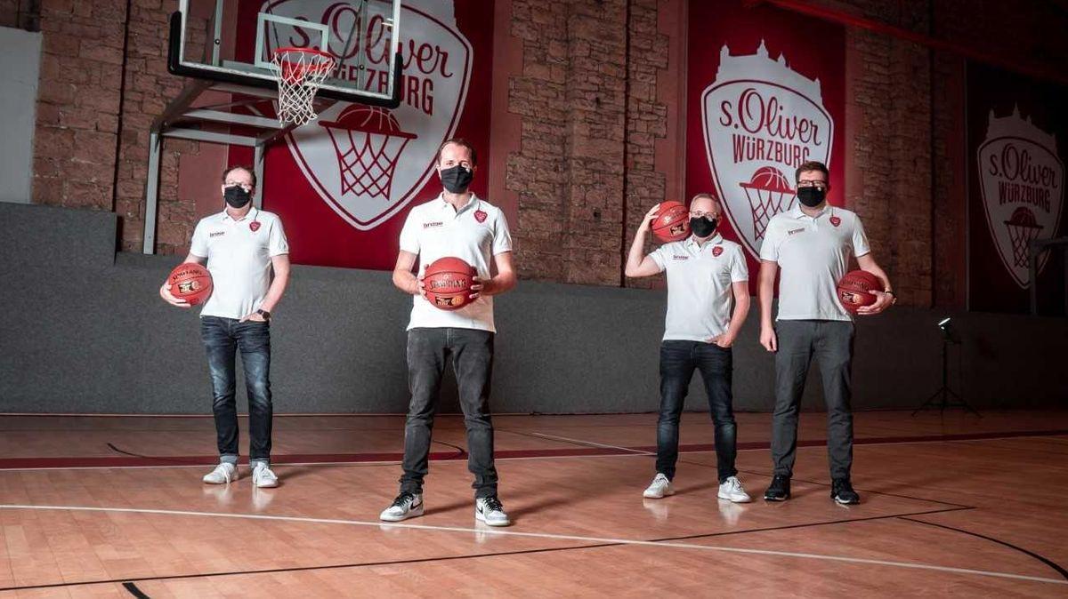 Das neue Gesellschafterteam der Würzburger Basketballer Jochen Freier, Dries Jennen, Christian Schenk und Holger Heusinger (von links nach rechts)
