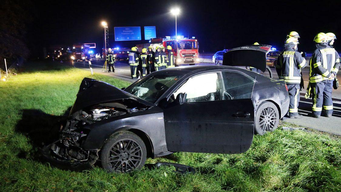 Schwerer Verkehrsunfall auf A3 bei Stockstadt