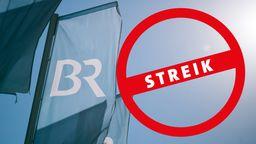 Die Gewerkschaften BJV und ver.di haben die Mitarbeiter des BR für Mittwoch zum Streik aufgerufen.  | Bild:BR