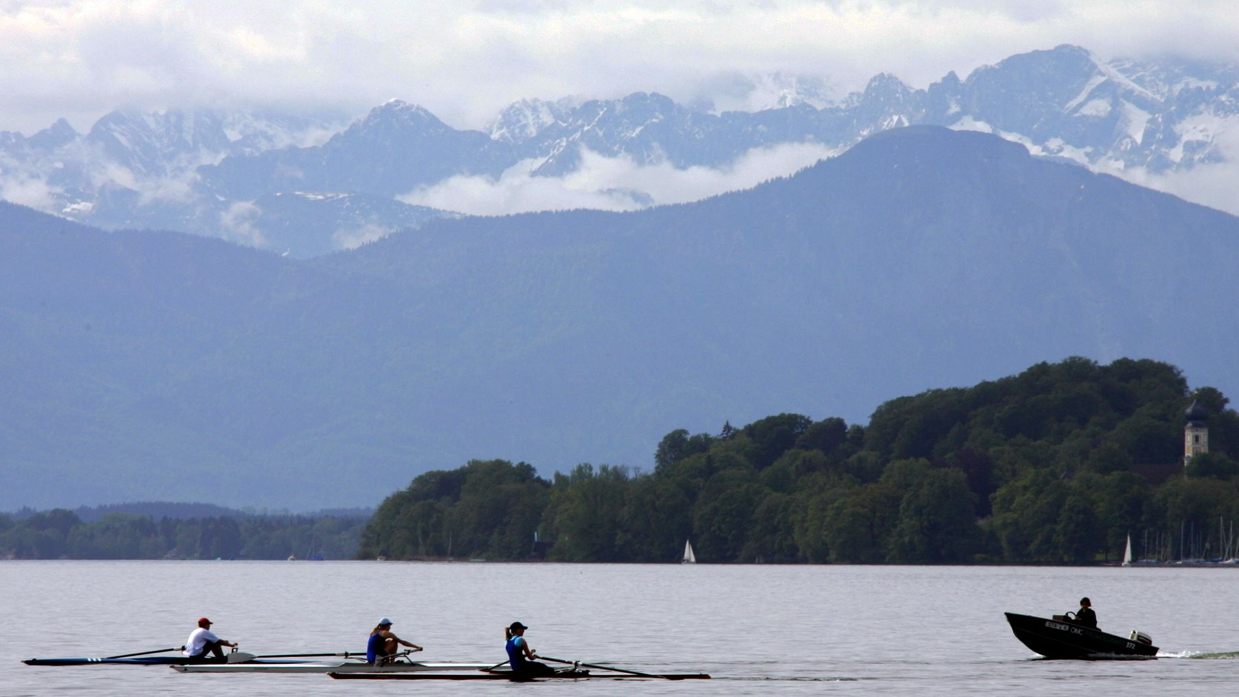 Archivbild: Rudertraining am Starnberger See