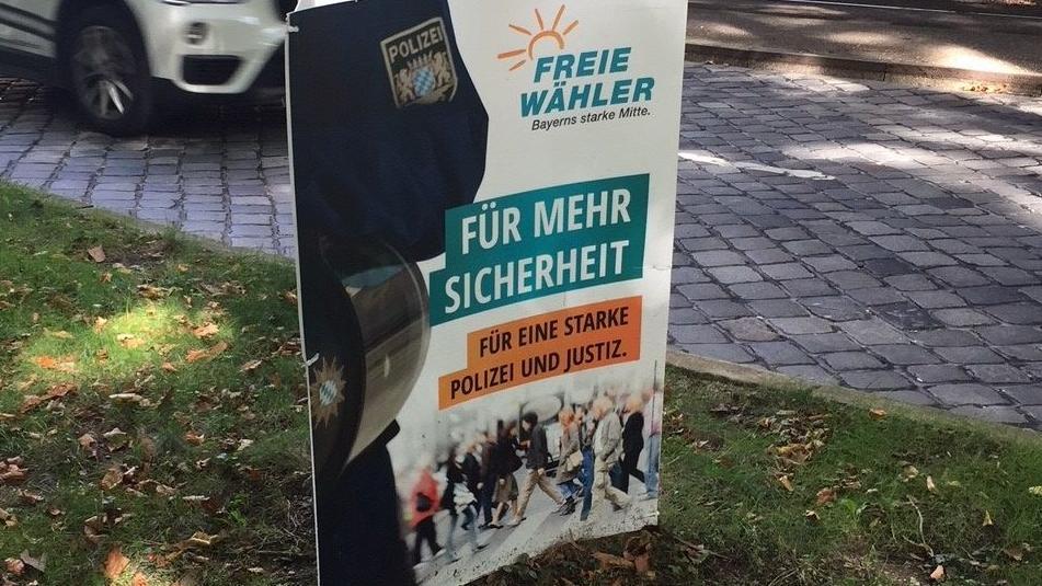 Wahlplakat der Freien Wähler in München