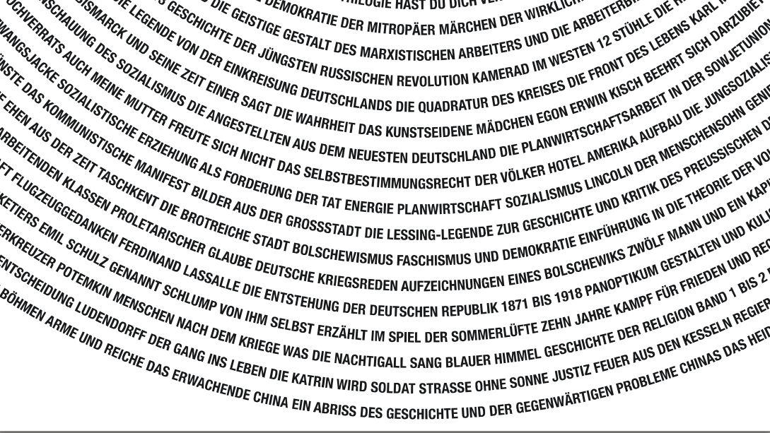 Textspirale: Entwurf zum Münchner Mahnmal zur Erinnerung an die Bücherverbrennung
