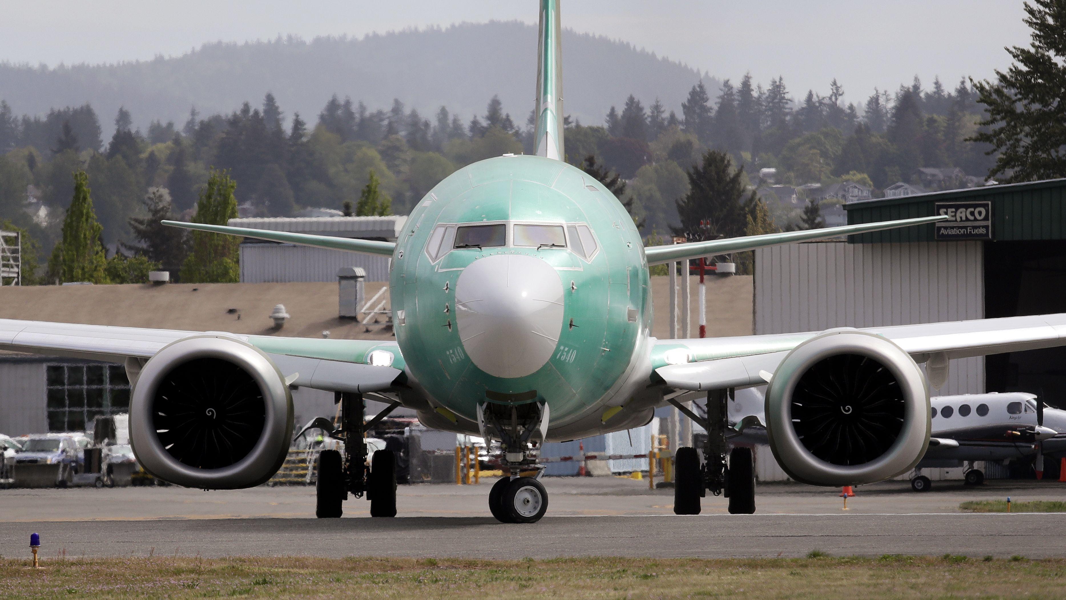 Flugzeug vom Typ Boeing 737 MAX 8