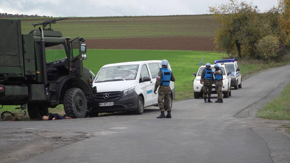 Südwestlich von Hammelburg bereiten sich aktuell Blauhelm-Soldaten auf den Ernstfall vor.