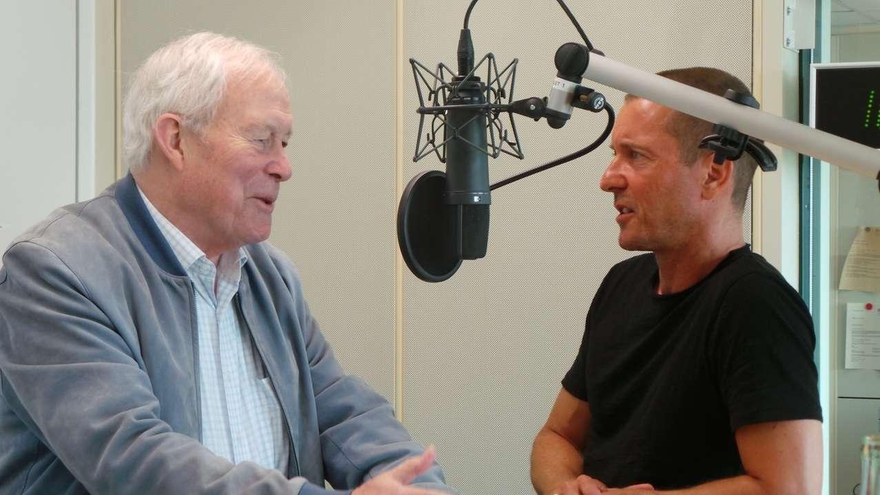 Armin Grein mit Moderator Jürgen Gläser