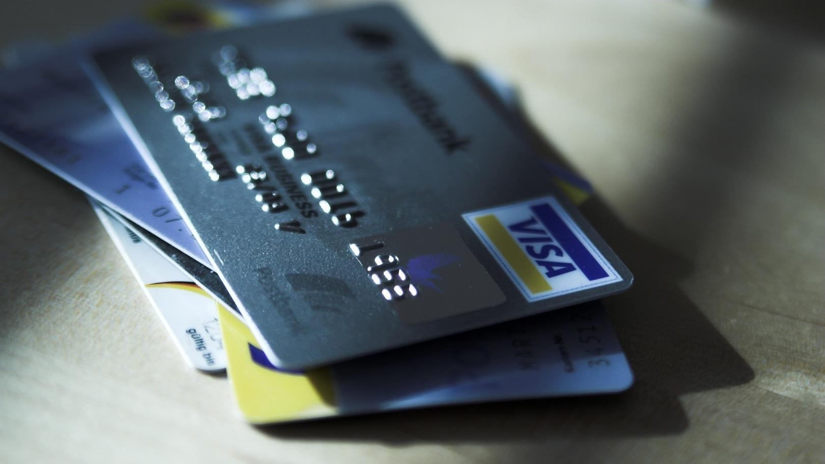 Stapel mit Kreditkarten