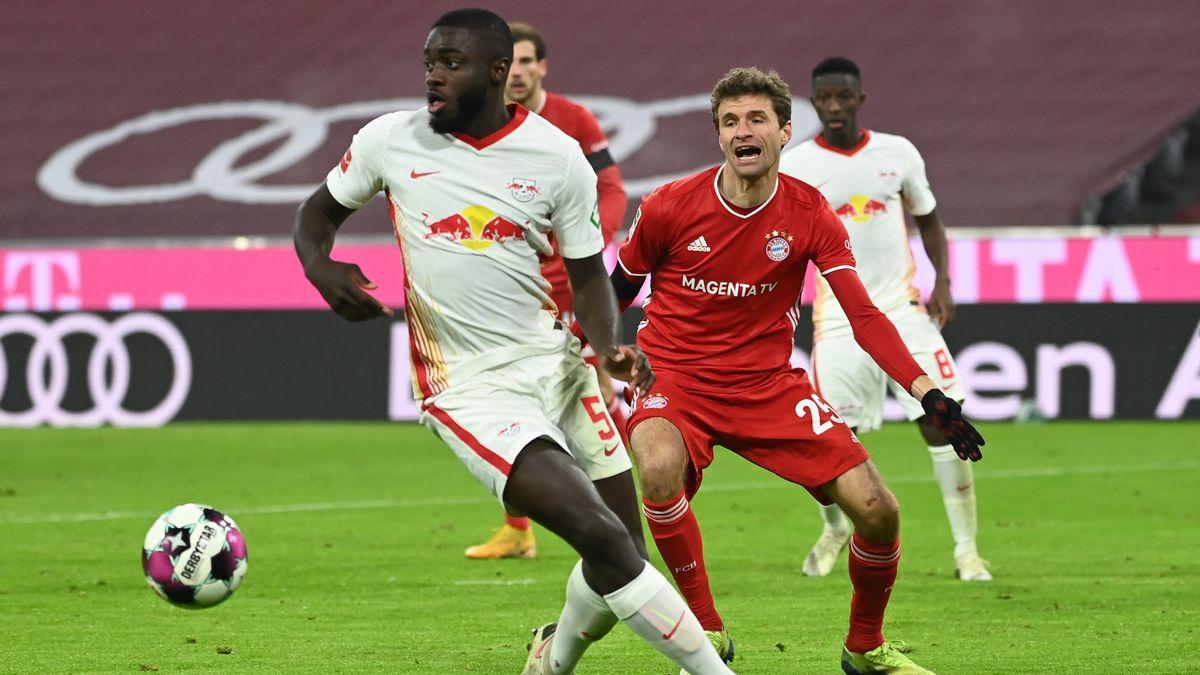 Dayot Upamecano - hier noch als Gegner des FC Bayern München