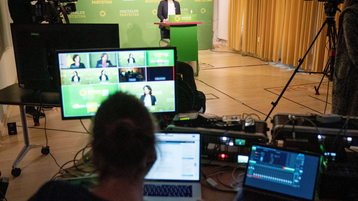 Digitaler Parteitag der Bundesgrünen im Mai 2020 (Symbolbild)