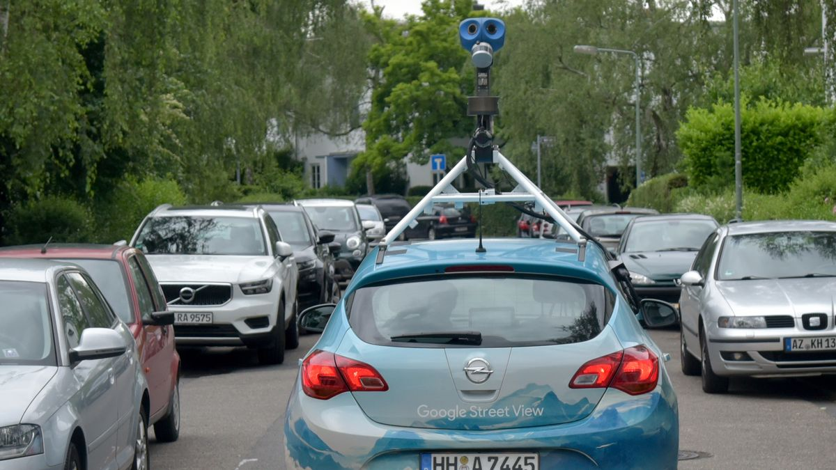 Google Street View Auto in Hamburg