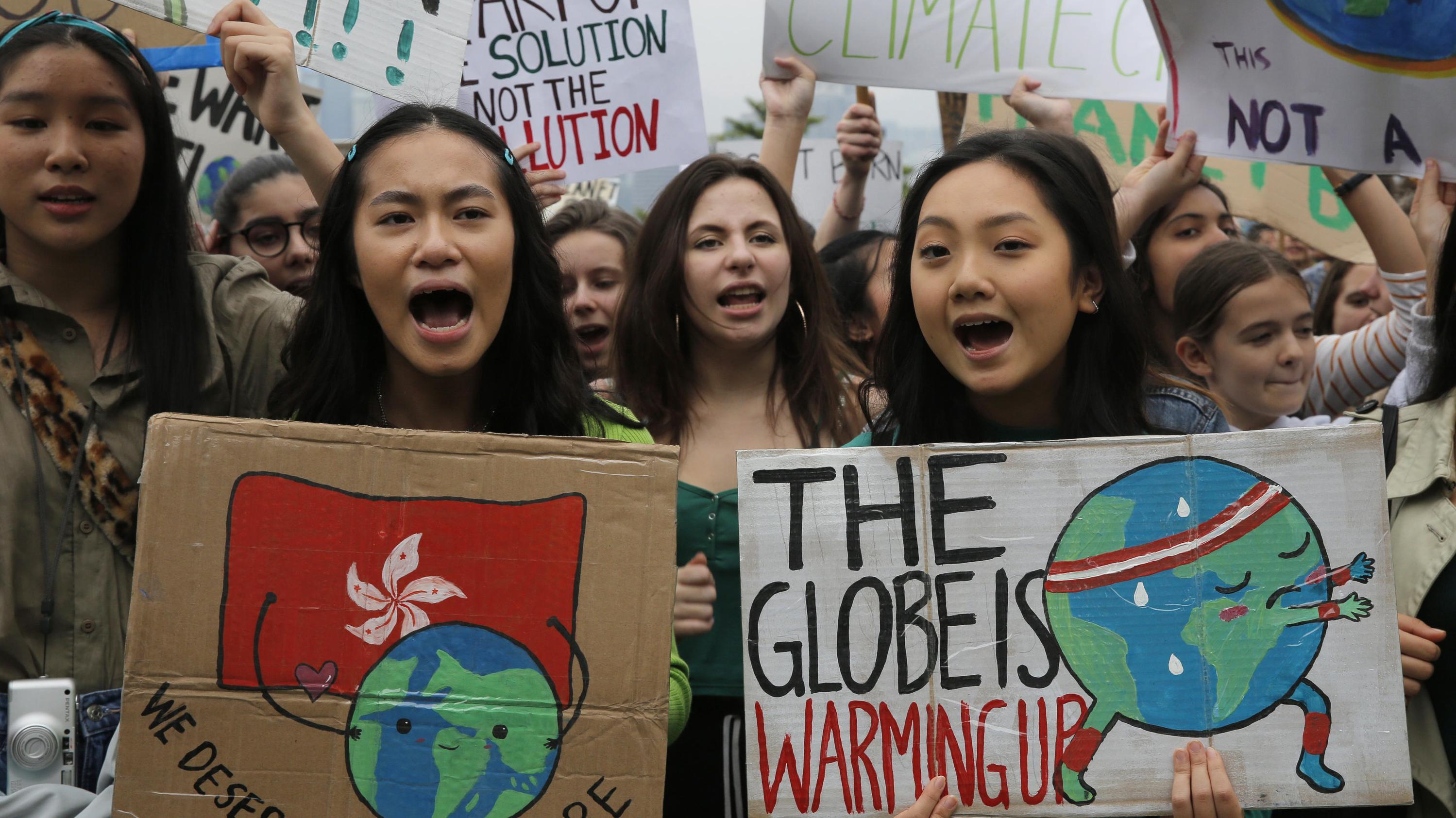 Schülerprotest in Hong Kong