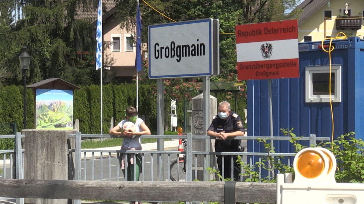 Österreichisch-Bayerische Grenze in Großgmain