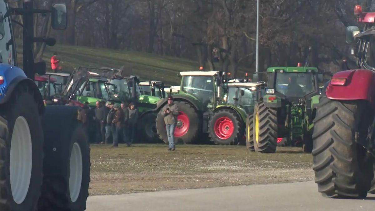 Landwirte bei Bauernprotest in Nürnberg